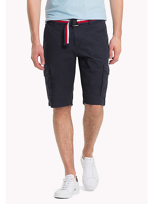 TOMMY HILFIGER Signature Belt Cargo Shorts - SKY CAPTAIN -  Clothing - main image