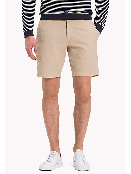 TOMMY HILFIGER Honeycomb Textured Shorts - BATIQUE KHAKI - TOMMY HILFIGER Vacation Style - main image
