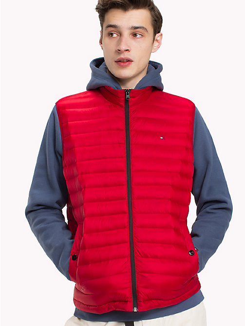 TOMMY HILFIGER Lightweight Packable Down Gilet - HAUTE RED - TOMMY HILFIGER Jackets - main image