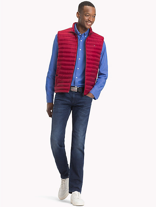TOMMY HILFIGER Lightweight Packable Down Gilet - RHUBARB - TOMMY HILFIGER Coats & Jackets - detail image 1