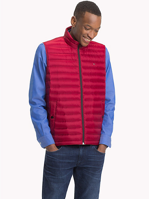 TOMMY HILFIGER Lightweight Packable Down Gilet - RHUBARB - TOMMY HILFIGER Gilets - main image
