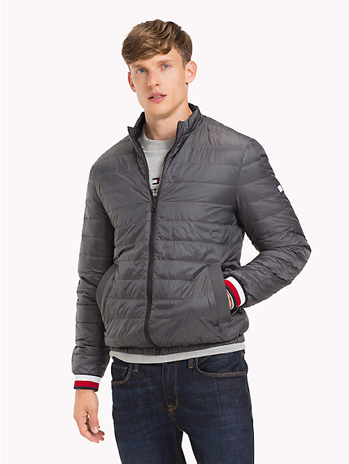 TOMMY HILFIGER Reversible Down Jacket - GRAY PINSTRIPE - TOMMY HILFIGER Jackets - main image