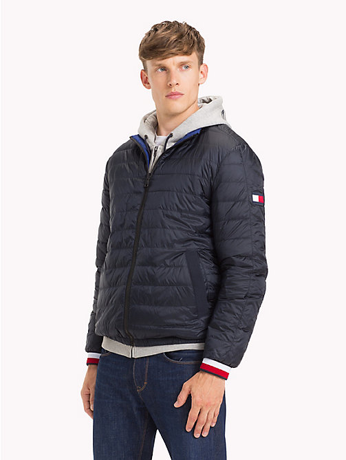 TOMMY HILFIGER Reversible Down Jacket - SKY CAPTAIN - TOMMY HILFIGER Coats & Jackets - main image