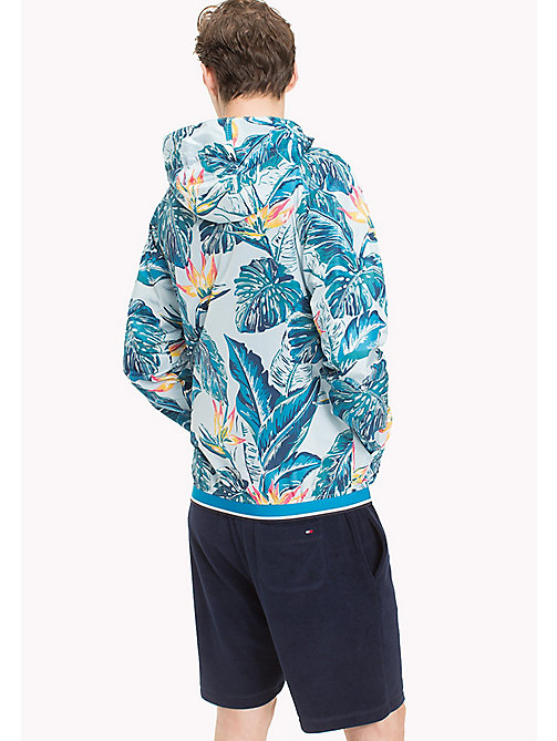 TOMMY HILFIGER Tropical Print Lightweight Jacket - COOL BLUE - TOMMY HILFIGER NEW IN - detail image 1
