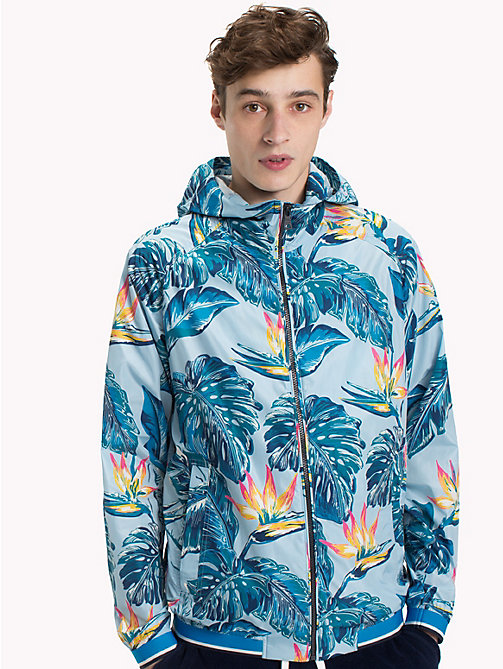 TOMMY HILFIGER Tropical Print Lightweight Jacket - COOL BLUE - TOMMY HILFIGER NEW IN - main image