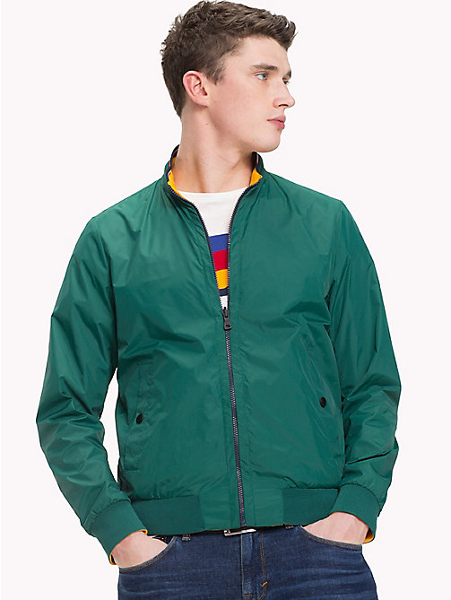 TOMMY HILFIGER Reversible Bomber Jacket - FOREST BIOME - TOMMY HILFIGER Clothing - main image