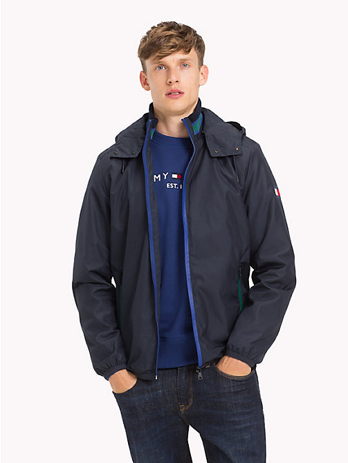 TOMMY HILFIGER Contrast Zip Hooded Jacket - SKY CAPTAIN - TOMMY HILFIGER Jackets - main image