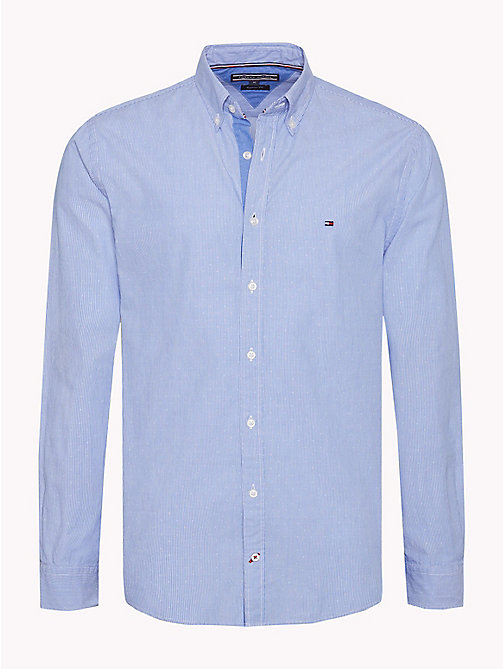 TOMMY HILFIGER Stripe Dobby Cotton Shirt - STRONG BLUE - TOMMY HILFIGER Casual Shirts - main image