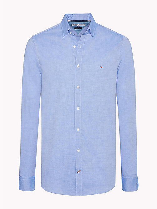 TOMMY HILFIGER Camicia slim fit in cotone dobby - STRONG BLUE -  Camicie Casual - immagine principale