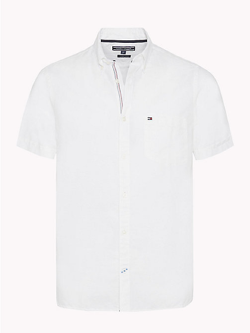 TOMMY HILFIGER Poplin slim fit overhemd met button-downkraag - BRIGHT WHITE - TOMMY HILFIGER Casual overhemden - main image