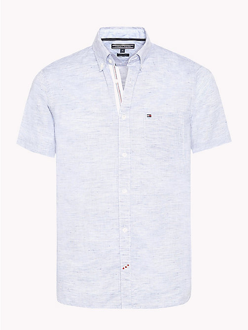 TOMMY HILFIGER Button Down Slim Fit Poplin Shirt - MAZARINE BLUE / BRIGHT WHITE - TOMMY HILFIGER NEW IN - main image