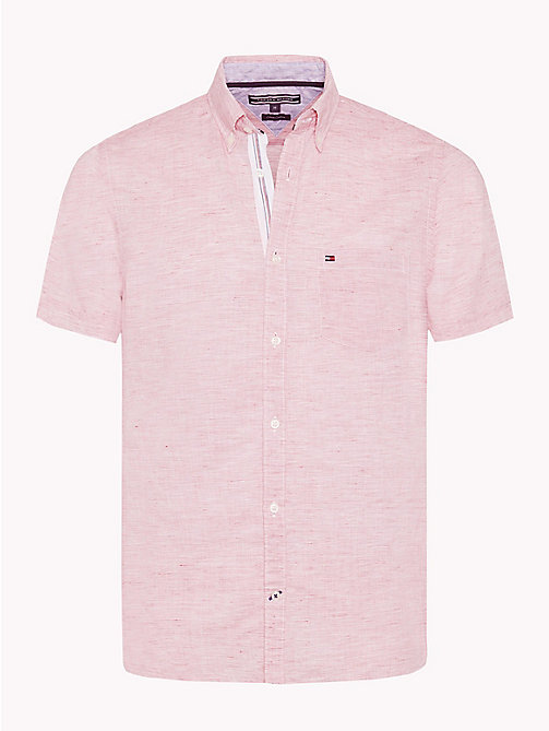 TOMMY HILFIGER Popeline-Hemd im Slim Fit mit Button-down-Kragen - GOJI BERRY / BRIGHT WHITE - TOMMY HILFIGER NEW IN - main image