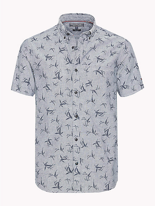 TOMMY HILFIGER Bamboo Print Shirt - INDIGO / PARISIAN NIGHT - TOMMY HILFIGER Vacation Style - main image