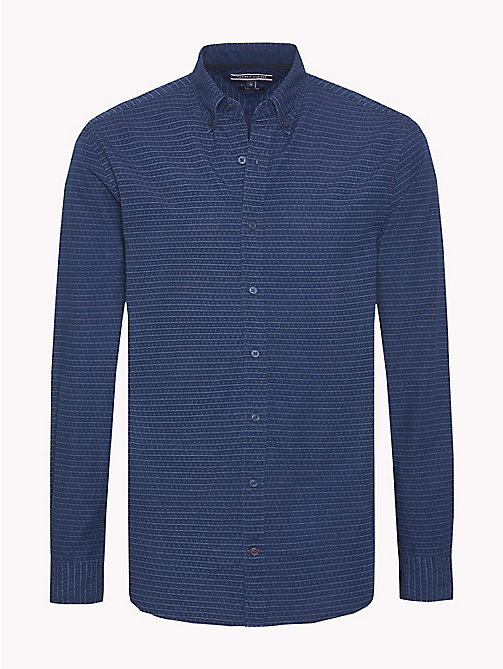 TOMMY HILFIGER Horizontal Stripe Regular Fit Shirt - INDIGO - TOMMY HILFIGER Casual Shirts - main image