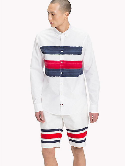 TOMMY HILFIGER Watercolour Stripe Shirt - BRIGHT WHITE / MULTI - TOMMY HILFIGER TOMMY'S PADDOCK - detail image 1