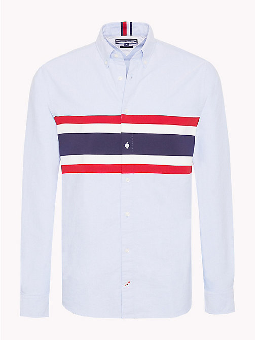 TOMMY HILFIGER Chest Stripe Oxford Shirt - SHIRT BLUE / MULTI - TOMMY HILFIGER TOMMY'S PADDOCK - main image