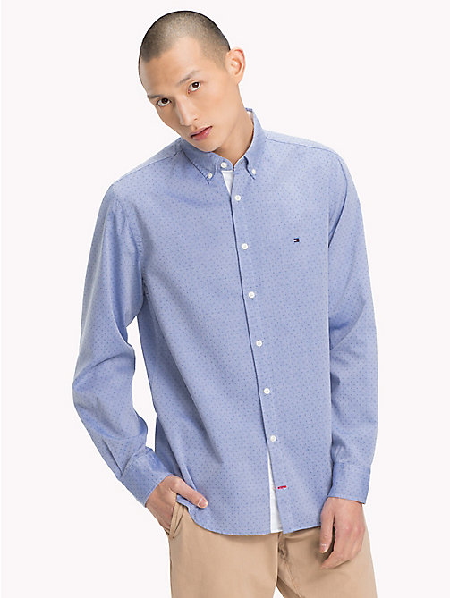 TOMMY HILFIGER Letter Print Regular Fit Shirt - SHIRT BLUE / STRONG BLUE - TOMMY HILFIGER Casual Shirts - detail image 1