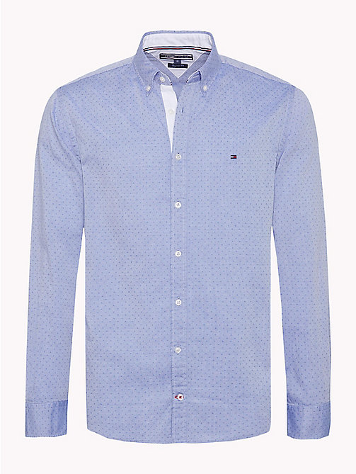 TOMMY HILFIGER Letter Print Regular Fit Shirt - SHIRT BLUE / STRONG BLUE - TOMMY HILFIGER Casual Shirts - main image
