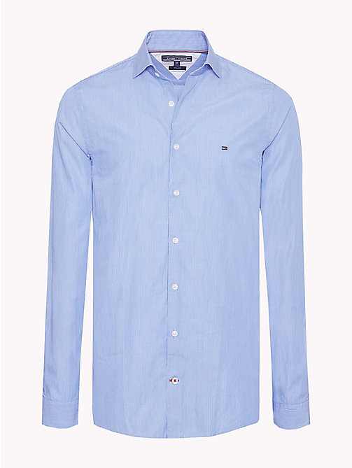 TOMMY HILFIGER Fine Stripe Regular Fit Shirt - STRONG BLUE / BRIGHT WHITE - TOMMY HILFIGER Casual Shirts - main image