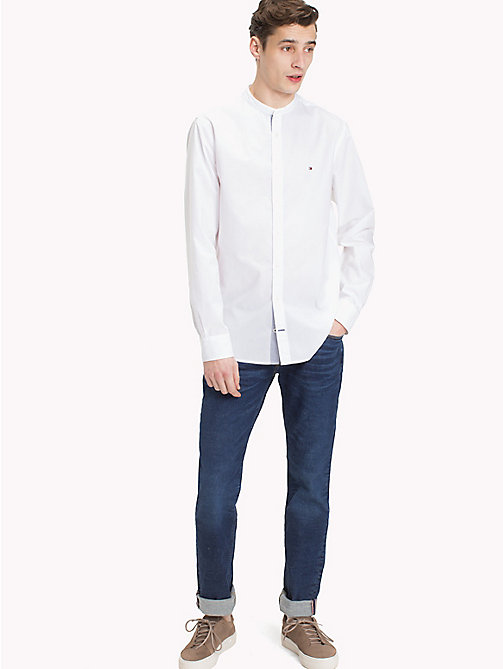 TOMMY HILFIGER Mandarin Collar Regular Fit Shirt - BRIGHT WHITE - TOMMY HILFIGER Casual Shirts - detail image 1