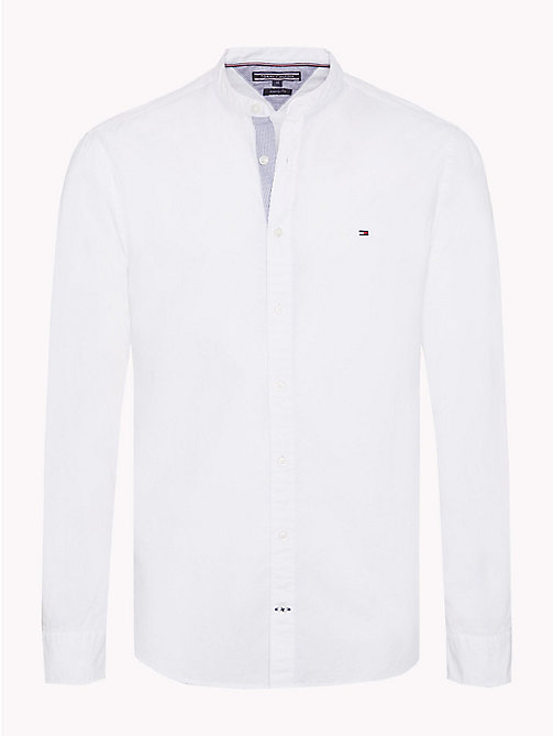 TOMMY HILFIGER Mandarin Collar Regular Fit Shirt - BRIGHT WHITE - TOMMY HILFIGER Casual Shirts - main image