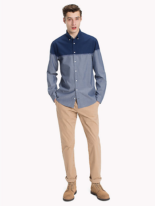 TOMMY HILFIGER Colour-Blocked Cotton Shirt - ESTATE BLUE / INDIGO - TOMMY HILFIGER Casual Shirts - detail image 1