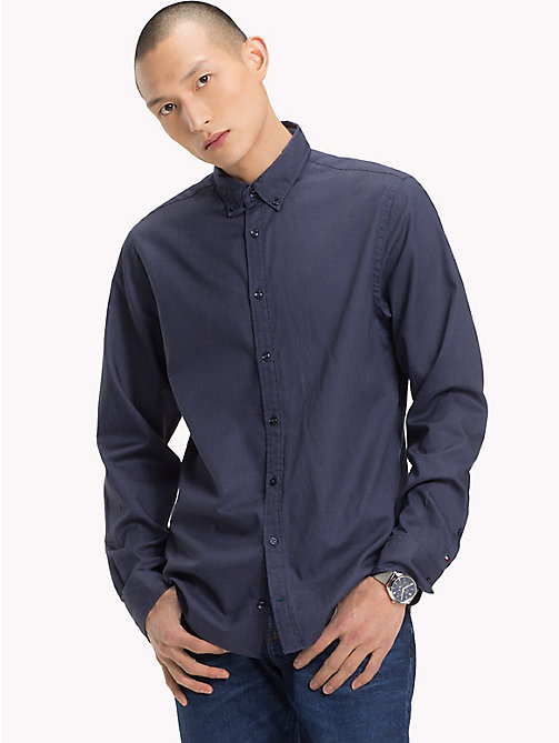 TOMMY HILFIGER Grid Print Regular Fit Shirt - PARISIAN NIGHT - TOMMY HILFIGER Casual Shirts - detail image 1