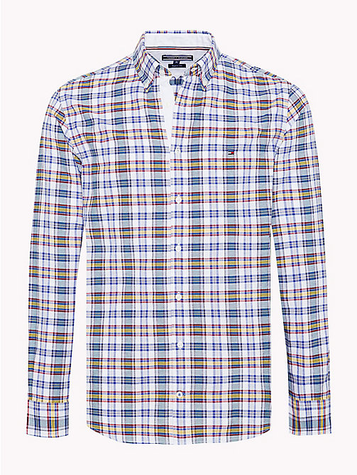 TOMMY HILFIGER Multicolour Check Regular Fit Shirt - PARISIAN BLUE / FOREST BIOME / MULTI - TOMMY HILFIGER Casual Shirts - main image