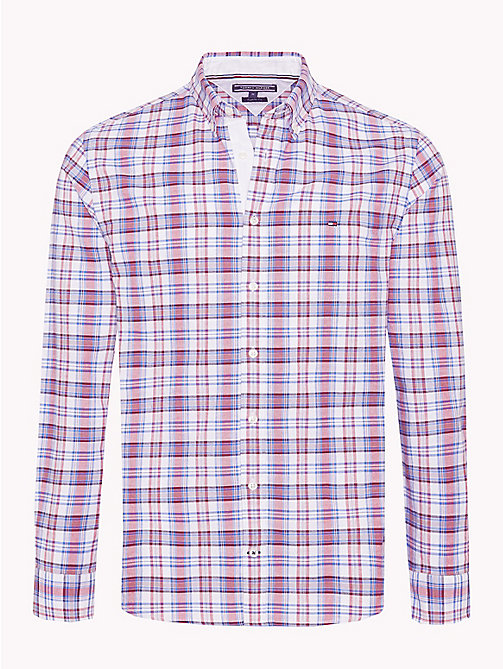 TOMMY HILFIGER Multicolour Check Regular Fit Shirt - HAUTE RED / STRONG BLUE / MULTI - TOMMY HILFIGER Casual Shirts - main image