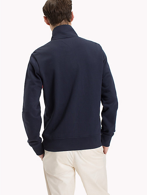TOMMY HILFIGER Zip Thru Stripe Sweater - NAVY BLAZER - TOMMY HILFIGER Clothing - detail image 1