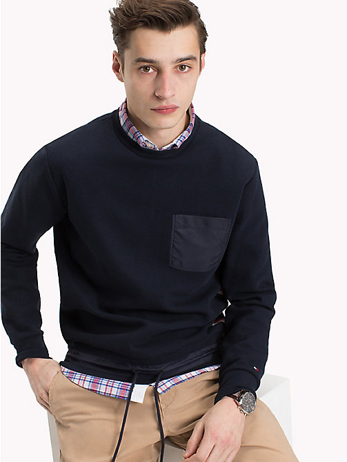 TOMMY HILFIGER Drawstring Waist Jumper - SKY CAPTAIN - TOMMY HILFIGER Clothing - main image