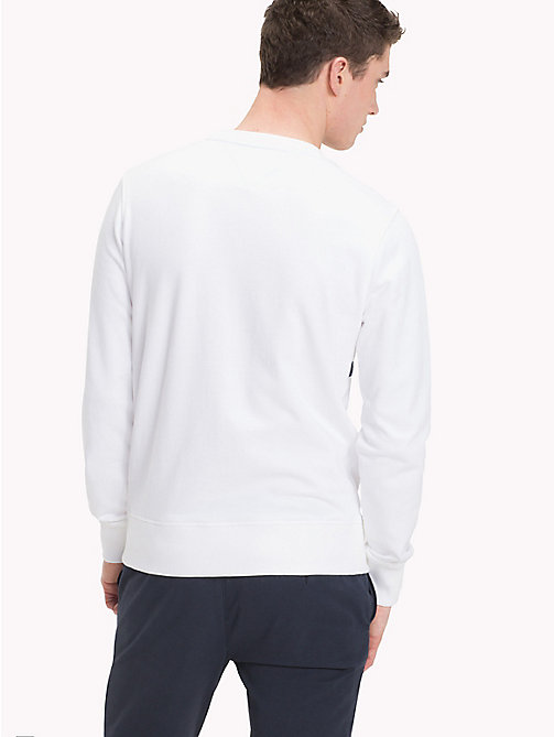 TOMMY HILFIGER Signature Stripe Sweatshirt - BRIGHT WHITE - TOMMY HILFIGER Clothing - detail image 1
