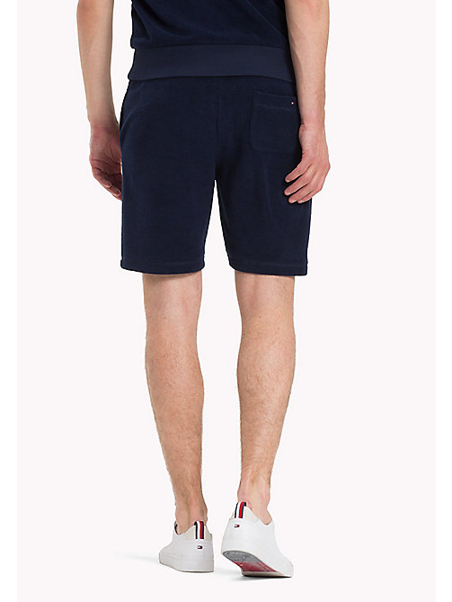TOMMY HILFIGER Towelling Drawstring Shorts - MARITIME BLUE - TOMMY HILFIGER Clothing - detail image 1