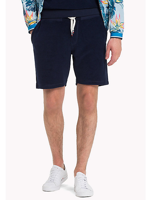 TOMMY HILFIGER Towelling Drawstring Shorts - MARITIME BLUE - TOMMY HILFIGER Clothing - main image