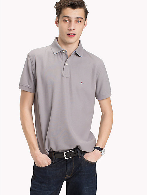 TOMMY HILFIGER Pure Cotton Polo Shirt - CLOUDBURST - TOMMY HILFIGER Vacation Style - main image