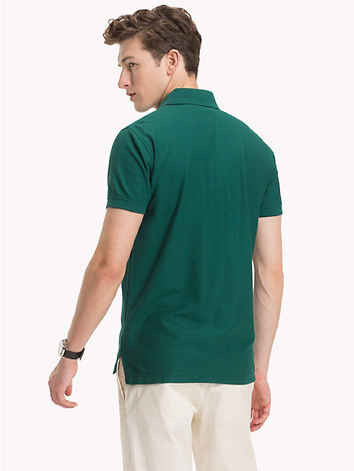 TOMMY HILFIGER Pure Cotton Polo Shirt - FOREST BIOME - TOMMY HILFIGER Vacation Style - detail image 1