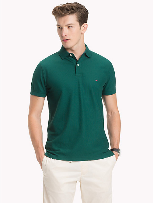 TOMMY HILFIGER Pure Cotton Polo Shirt - FOREST BIOME - TOMMY HILFIGER Vacation Style - main image