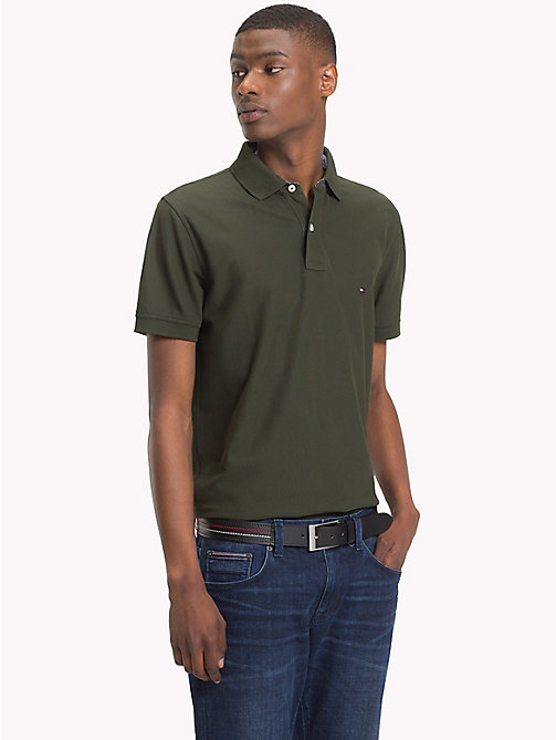 TOMMY HILFIGER Pure Cotton Polo Shirt - ROSIN - TOMMY HILFIGER Polo Shirts - main image