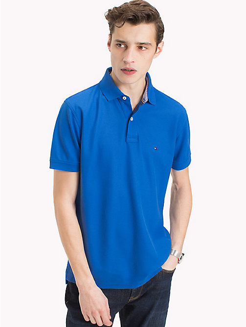 TOMMY HILFIGER Pure Cotton Polo Shirt - STRONG BLUE - TOMMY HILFIGER Vacation Style - main image