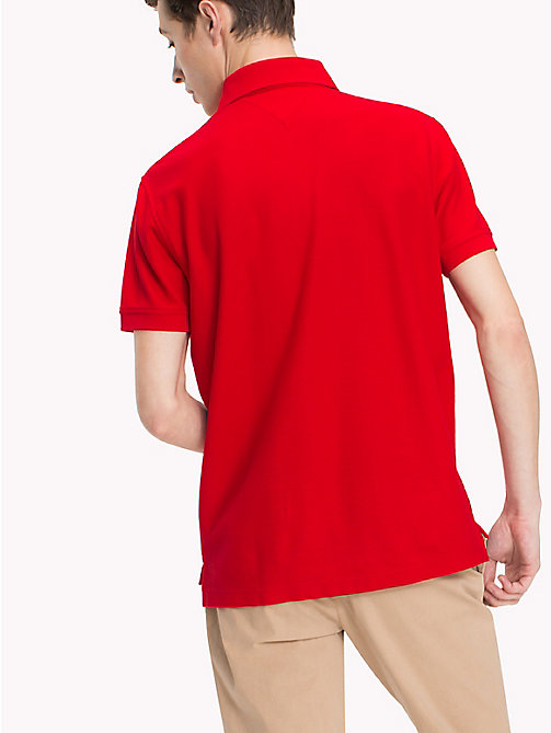 TOMMY HILFIGER Regular Fit Polo Shirt - GOJI BERRY - TOMMY HILFIGER Vacation Style - detail image 1