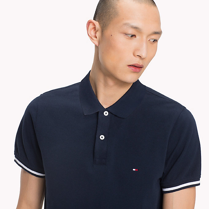 TOMMY HILFIGER Tipped Slim Fit Polo Shirt - HAUTE RED - TOMMY HILFIGER Men - detail image 2