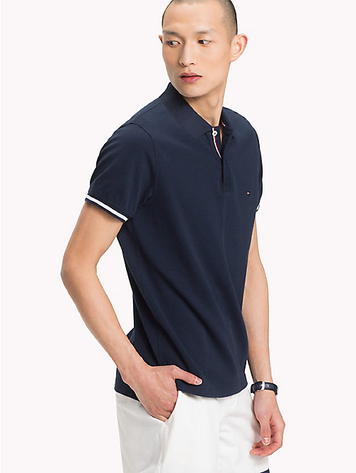 TOMMY HILFIGER Polo slim fit con bordi - SKY CAPTAIN - TOMMY HILFIGER Polo - immagine principale