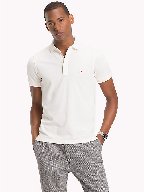 TOMMY HILFIGER Pure Cotton Polo - WHISPER WHITE - TOMMY HILFIGER What to wear - main image