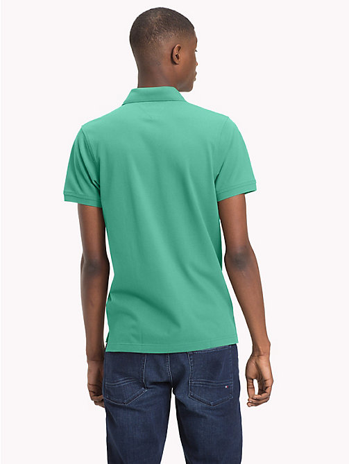 TOMMY HILFIGER Slim fit poloshirt - MINT LEAF - TOMMY HILFIGER Polo's - detail image 1