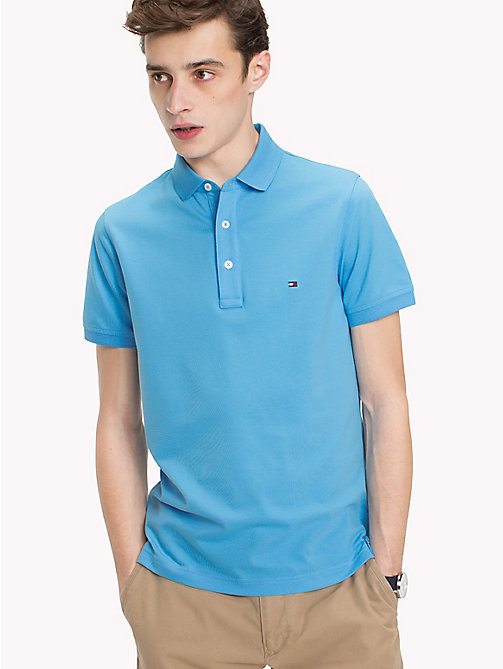 TOMMY HILFIGER Slim Fit Polo Shirt - BONNIE BLUE - TOMMY HILFIGER Vacation Style - main image
