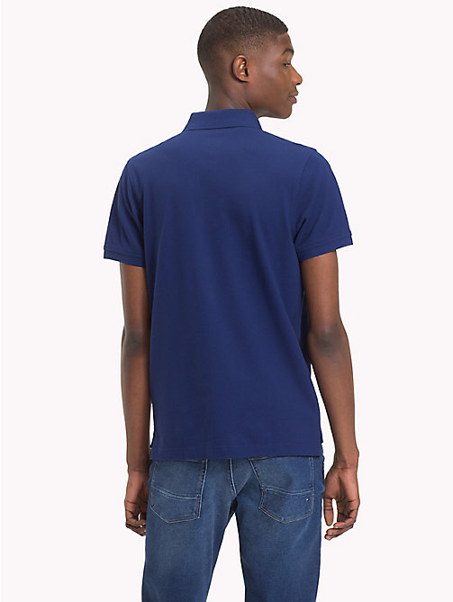 TOMMY HILFIGER Pure Cotton Polo - BLUE DEPTHS - TOMMY HILFIGER Polo Shirts - detail image 1
