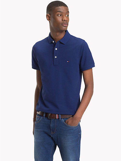 TOMMY HILFIGER Pure Cotton Polo - BLUE DEPTHS - TOMMY HILFIGER Polo Shirts - main image