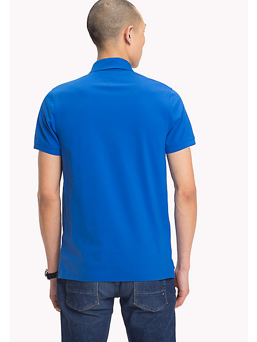 TOMMY HILFIGER Slim Fit Polo Shirt - STRONG BLUE - TOMMY HILFIGER Polo Shirts - detail image 1