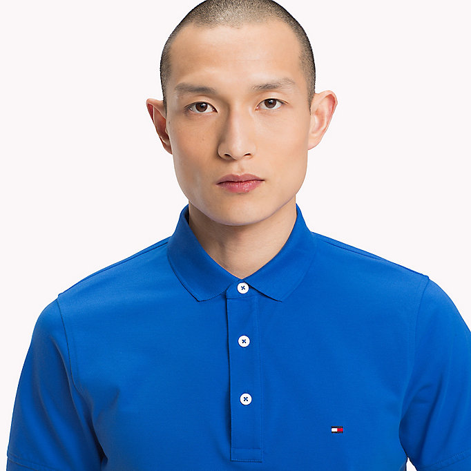 TOMMY HILFIGER Slim Fit Polo Shirt - BONNIE BLUE - TOMMY HILFIGER Men - detail image 2