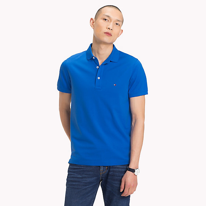 TOMMY HILFIGER Slim Fit Polo Shirt - BONNIE BLUE - TOMMY HILFIGER Men - main image